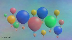 balon udara, inkscape, gimp